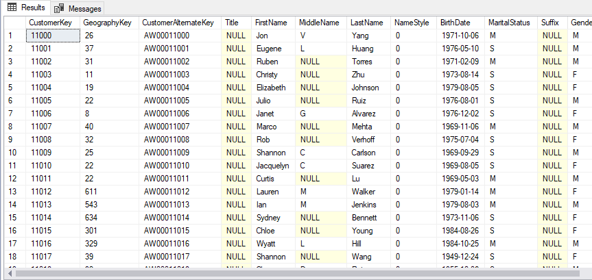 Example 1: Pulling All Data - Single Table
