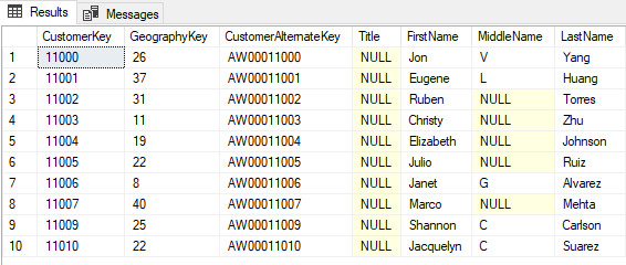 Example 3 Query: Not Filters to Exclude Records
